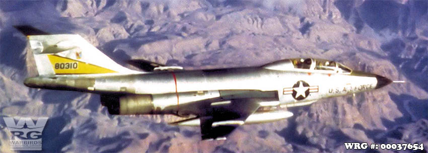 F-101B Voodoo/58-0310 of the 29th FIS out of Great Falls AFB, MT, March 1964